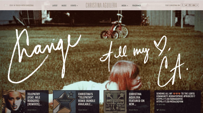 Сайт на wordpress Christina Aguilera